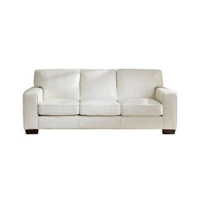 Van Nest Craft Leather Sofa Upholstery: Ivory White