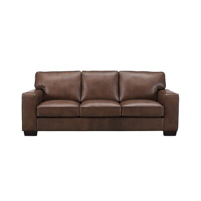 Van Nest Craft Leather Sofa Upholstery: Brown