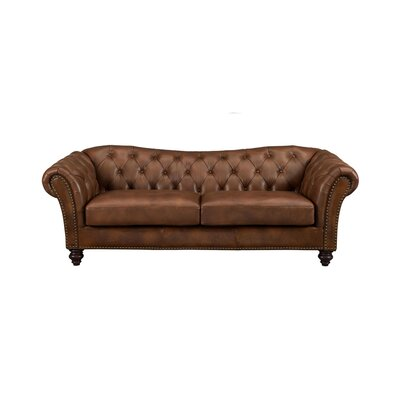 Parth Craft Leather Sofa Upholstery: Brown
