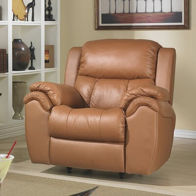 Matteo Power Rocker Recliner Reclining Type: Power, Upholstery: Burgundy