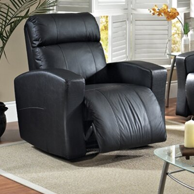 Vuelta Leather Power Rocker Recliner Reclining Type: Manual, Upholstery: Dark Grey
