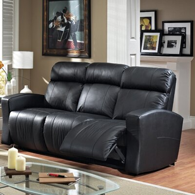 Vuelta Leather Reclining Sofa Type: Power, Upholstery: Tan