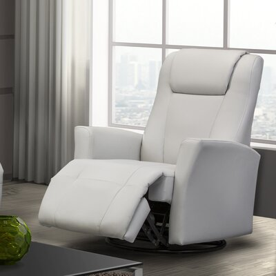Lainee Power Swivel Recliner Upholstery: Black