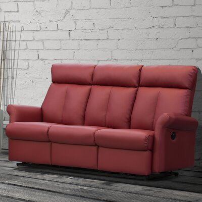 Lynn Reclining Sofa Upholstery: Blush Red