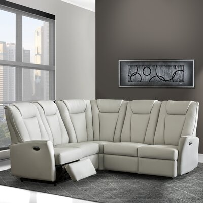 Langdon Reclining Sectional Upholstery: Bone
