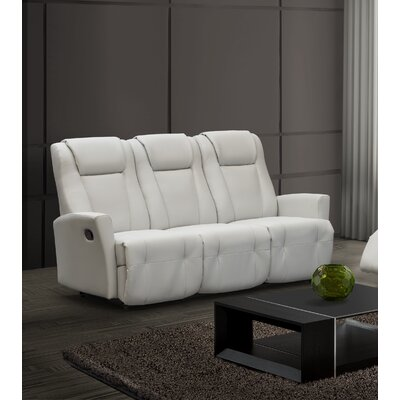 Lainee Reclining Sofa Upholstery: Chocolate