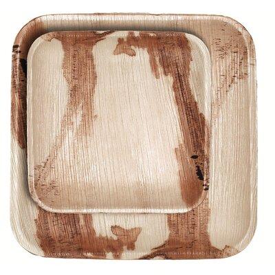 Square Palm Leaf 50 Piece Plate Set