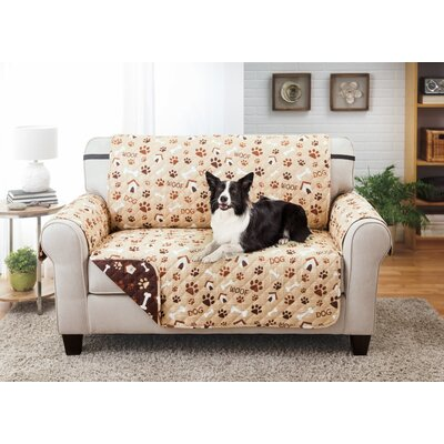 Printed T-Cushion Loveseat Slipcover