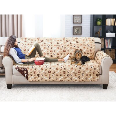 Printed T-Cushion Sofa Slipcover
