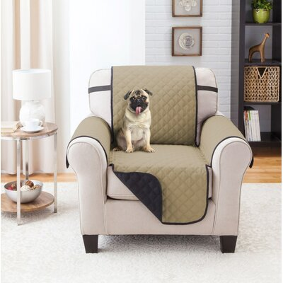 T-Cushion Armchair Slipcover Color: Black/Taupe
