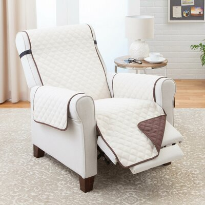 T-Cushion Recliner Slipcover Color: Chocolate/Tan