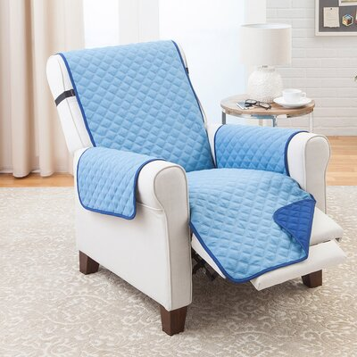 T-Cushion Recliner Slipcover Color: Navy/Provencial Blue