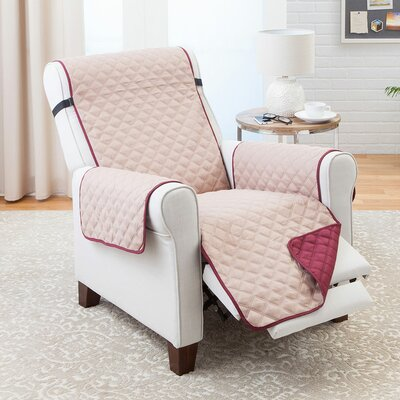 T-Cushion Recliner Slipcover Color: Wine/Mocha