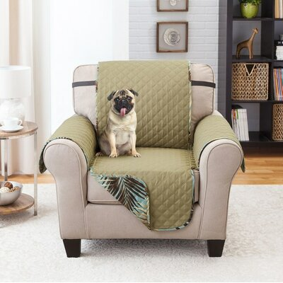 Printed T-Cushion Armchair Slipcover