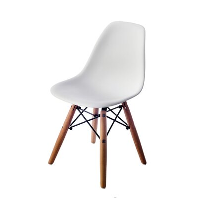 Pluto White Solid Wood Dining Chair