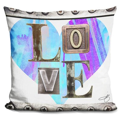 Love in Throw Pillow Color: Blue
