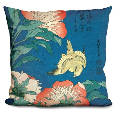 Peonies and Canary Throw Pillow