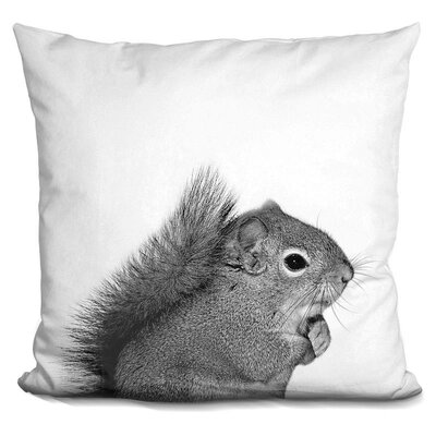 Squirrel Throw Pillow Color: Black/White