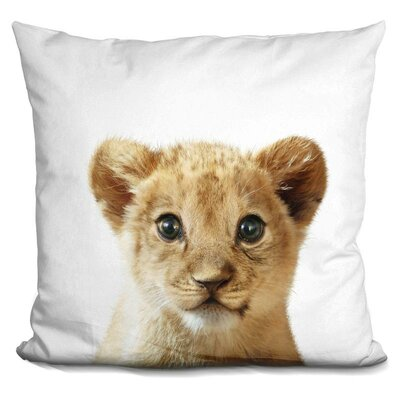 Hermes Baby Lion Throw Pillow Color: Yellow