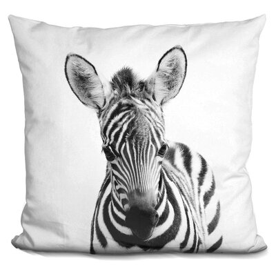 Hoerner Baby Zebra Throw Pillow Color: Black/White