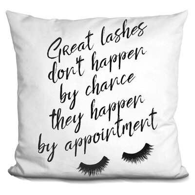 Imes Lashes Throw Pillow