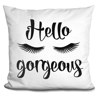 Carlie Hello Gorgeous Throw Pillow