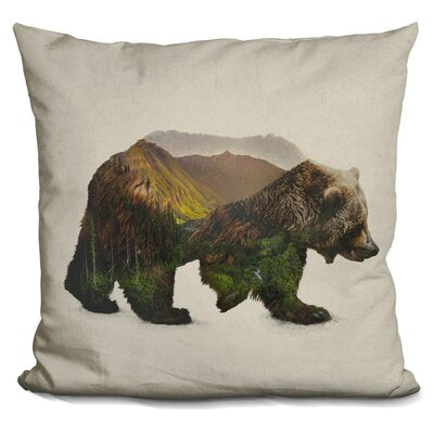 North American Brown Bear Throw Pillow