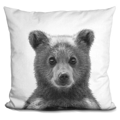 Delvalle Baby Bear Throw Pillow Color: Black/White
