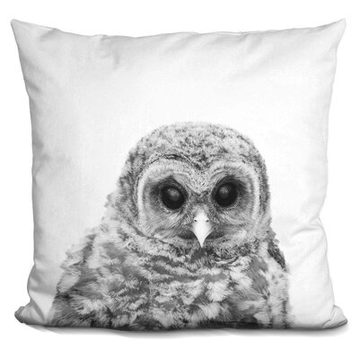 Hoehn Baby Owl Throw Pillow Color: Black/White