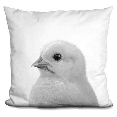 Hogans Chick Throw Pillow Color: Black/White
