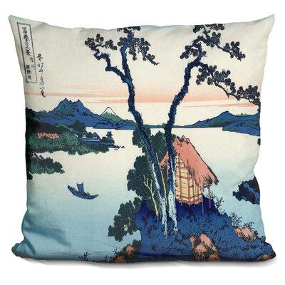 Lake Suwa in the Shinano Throw Pillow