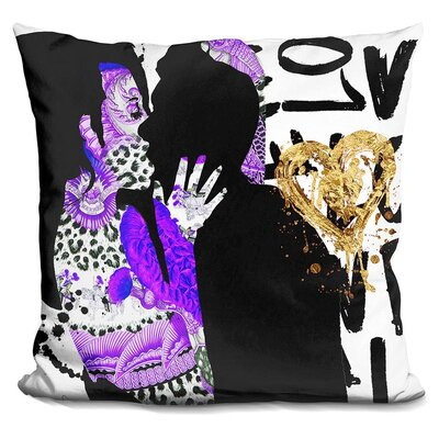 Kiss Me in Throw Pillow Color: Black/Blue