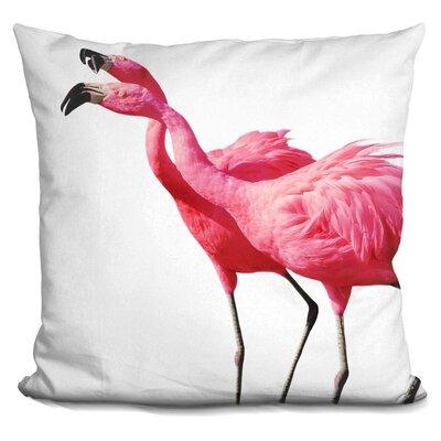 Holahan Flamingo Throw Pillow Color: Pink