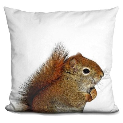 Squirrel Throw Pillow Color: Brown