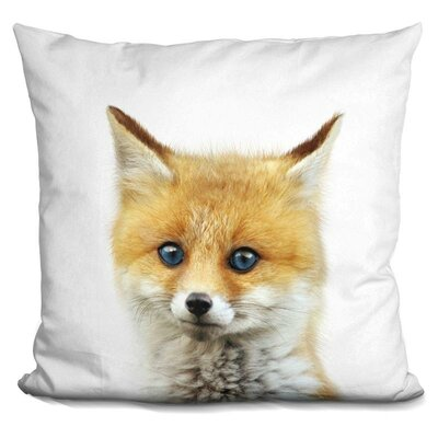 Leithgow Baby Fox Throw Pillow Color: Yellow