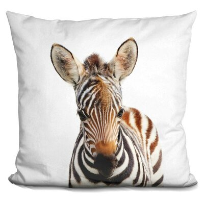 Hoerner Baby Zebra Throw Pillow Color: Brown
