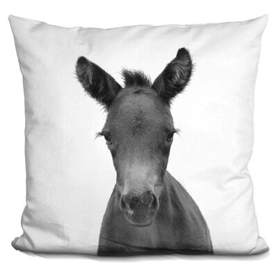 Holcombe Foal Throw Pillow Color: Black/White