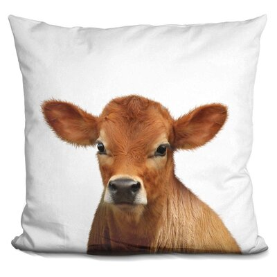 Loudon Calf Throw Pillow Color: Brown
