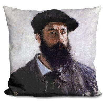 Self Portrait with a Beret Throw Pillow