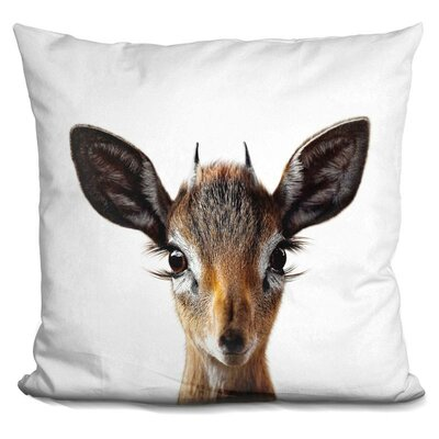 Demaio Baby Deer Throw Pillow Color: Brown