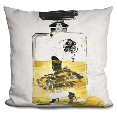 Lina Trapped Throw Pillow Color: Yellow