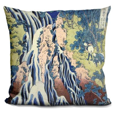 The Falling Mist Waterfall Throw Pillow