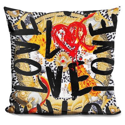 Love Me in Throw Pillow Color: Black/Yellow