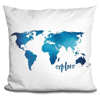 Hartzler Explore Throw Pillow Color: Blue