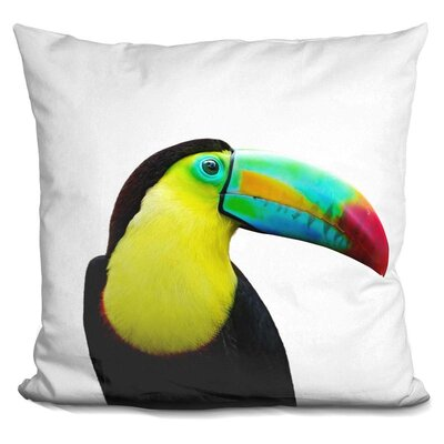 Toucan Throw Pillow Color: Black/Green