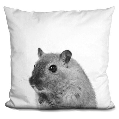 Jamil Mouse Throw Pillow Color: Black/White
