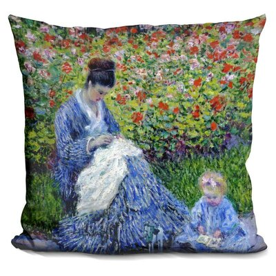 Levi Camille Monet and a Child Throw Pillow