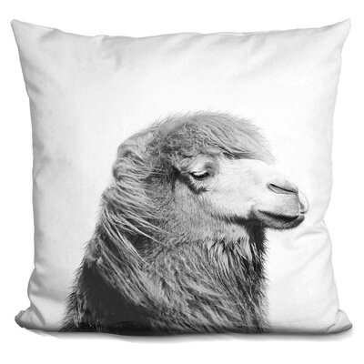 Hofstetter Camel Throw Pillow Color: Black/White