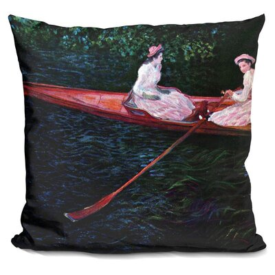 Bagwell Boating on the River Epte Throw Pillow