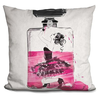 Lina Trapped Throw Pillow Color: Pink